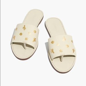 Madewell Boardwalk Slides Genuine Leather Sandals